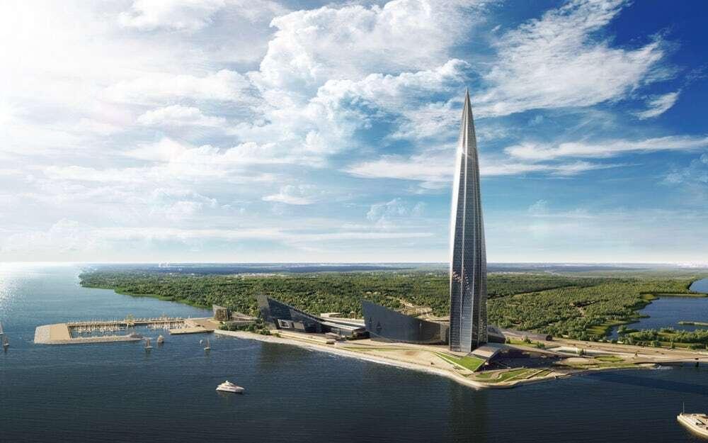 najwyższy budynek. Europa, Petersburg, Rosja, najwyższy budynek w Europie, Lakhta Center, Gazprom, LEED Gold, Lakhta, Center