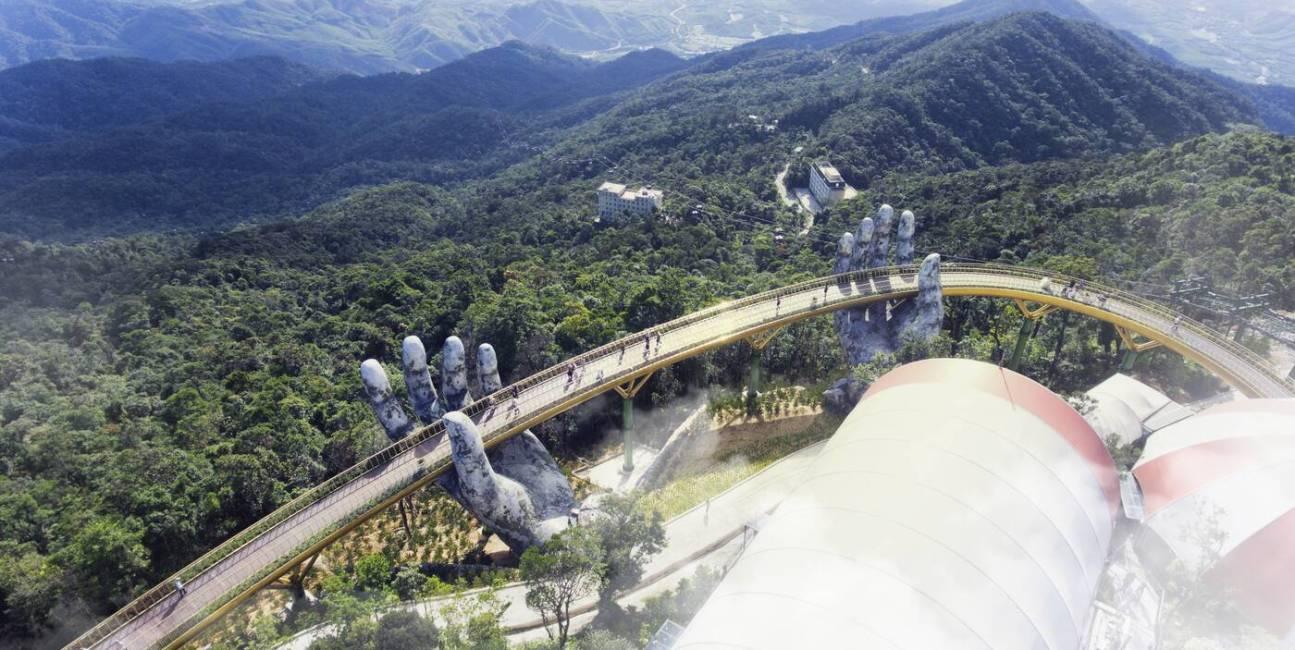 Wietnam, Golden Bridge, Złoty Most, Ba Na, Cau Vang