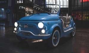 Fiat 500 Jolly przerobiony na elektryczną piękność