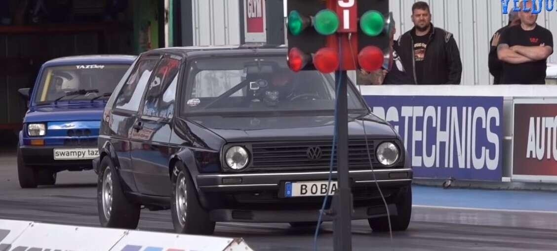 1200-konny Golf Mk2 jest bestią na ćwierć mili