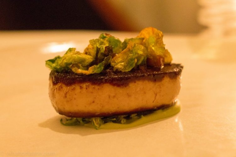 Eleven Madison Park - Foie Gras Seared with Brussels Sprouts and Lemon