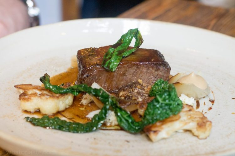 Beef Short Rib, Braised Cauliflower, Black Garlic and Cavalo Nero