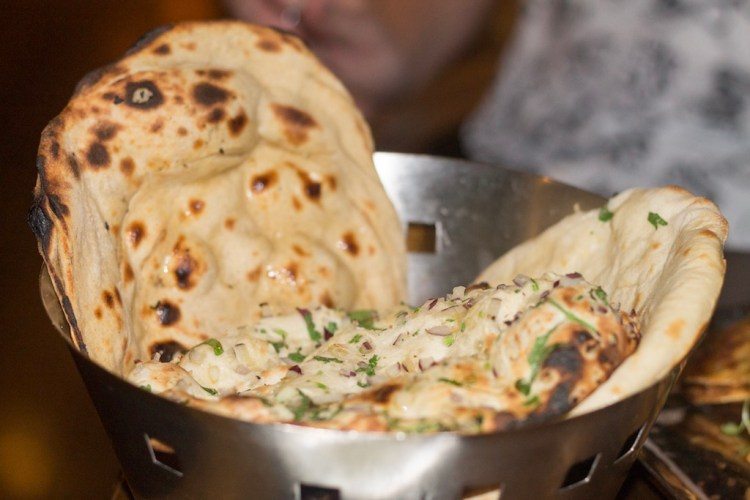 Basket of Naan Bread