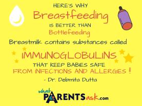 Immunoglobulins in breastmilk prevent diseases