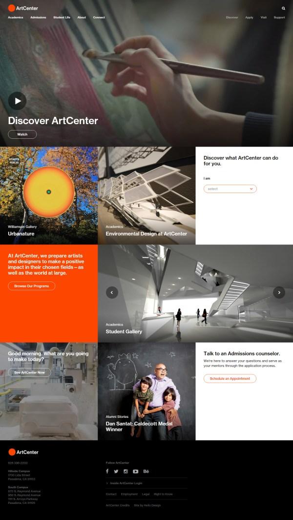 Artcenter College Of Design Reveals Website Layout