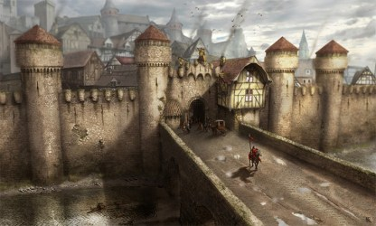 medieval concept walled wall fantasy town castle artwork buildings environment towns david map artstation pic landscape exterior