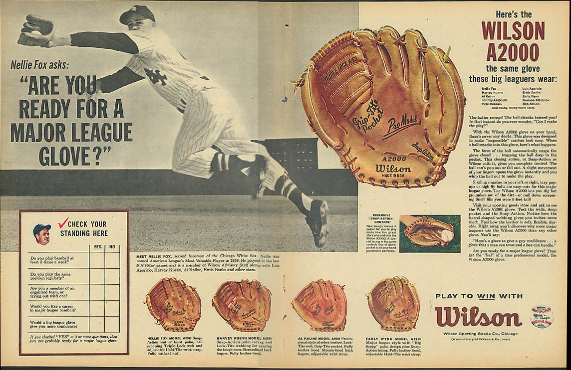 Wilson ad from 1961.