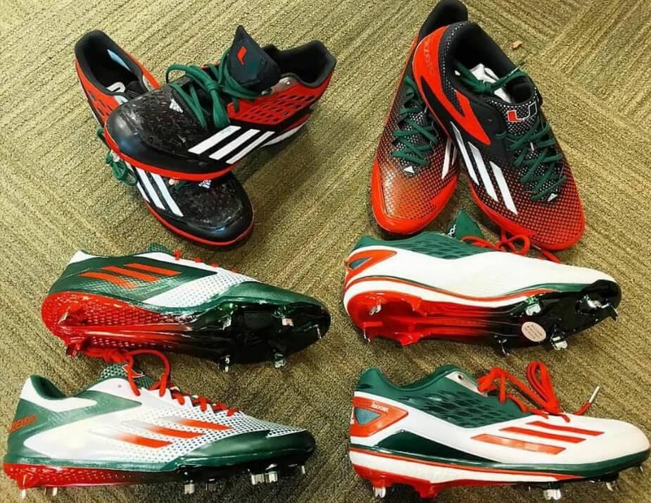 @cbarr_17 U Miami adidas Cleats