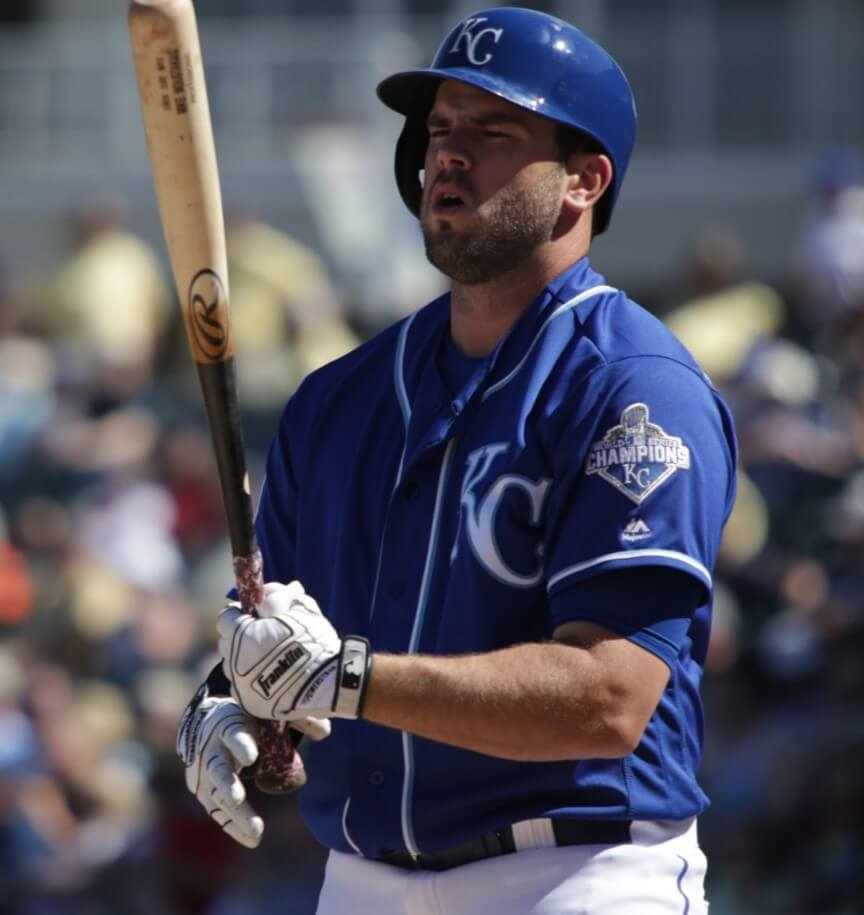 Mike Moustakas Franklin Powerstrap Batting Gloves