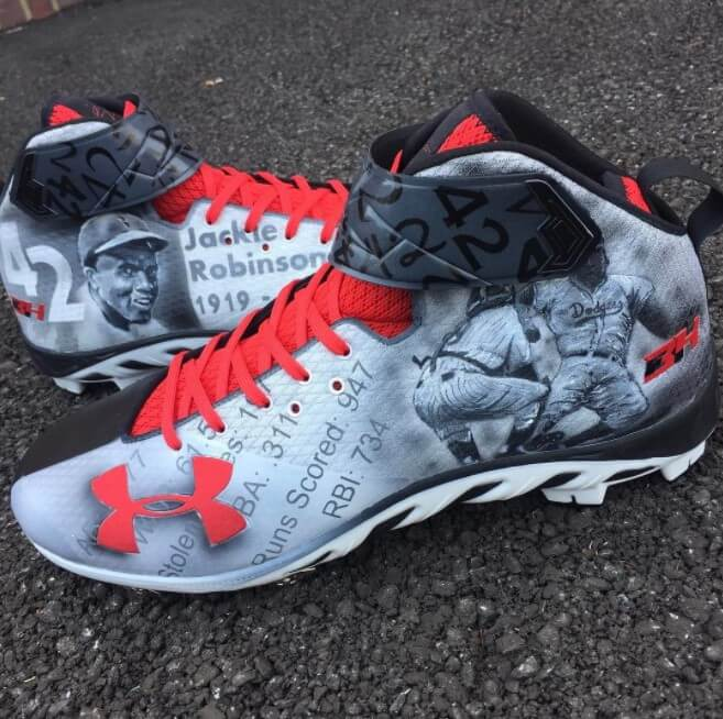 Bryce Harper Jackie Robinson Day 2017 Cleats