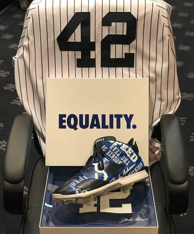 Dellin Betances Jackie Robinson Day Cleats 2017