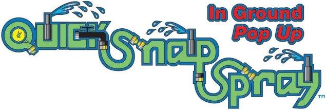 quick-snap sprinkler spray logo