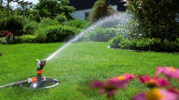 water sprinkler in a lawn