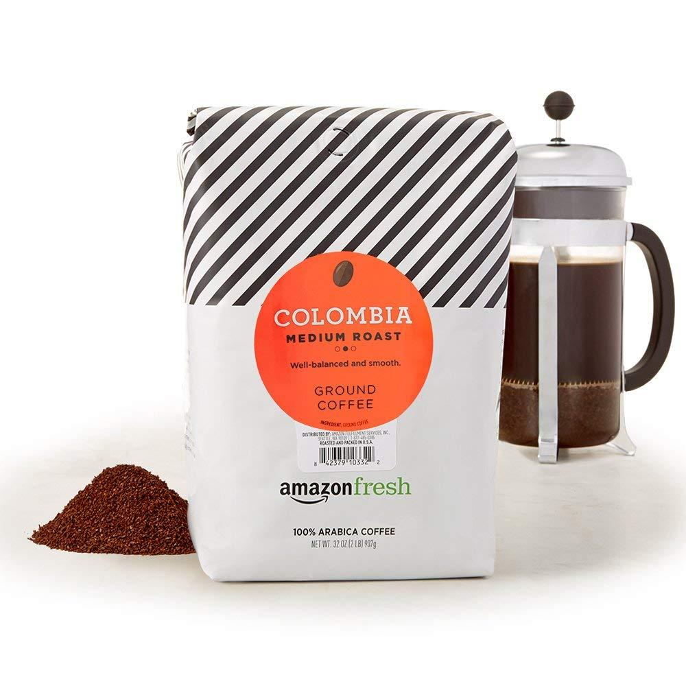 AmazonFresh Colombia Ground Coffee, Medium Roast