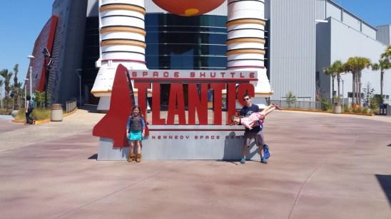 Flying to Shuttle Atlantis