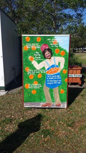 Orange farmer Lainey