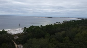 Beach view from the top of the lighthouse.