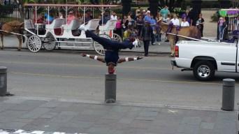 Street Performer Head Spins