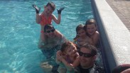 Pool time with the Harpers