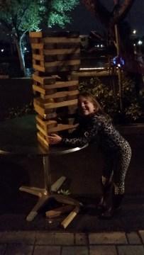 Lainey's huge Jenga
