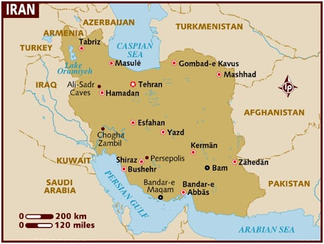 What Is The National Map of Iran?
