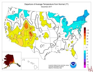 Average Low Temperature of the US January   WhatsAnswer