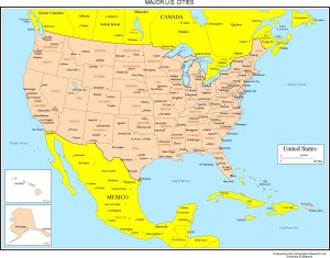 Beautiful States Capital Cities Map Of USA