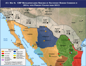 Border Map Of The USA With Mexico