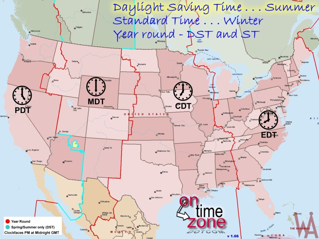 DST Time Zone Map Of The USA | WhatsAnswer Time Size Map Of The Us on canada size, california size, virginia size, mississippi size, halle berry size, puerto rico size,