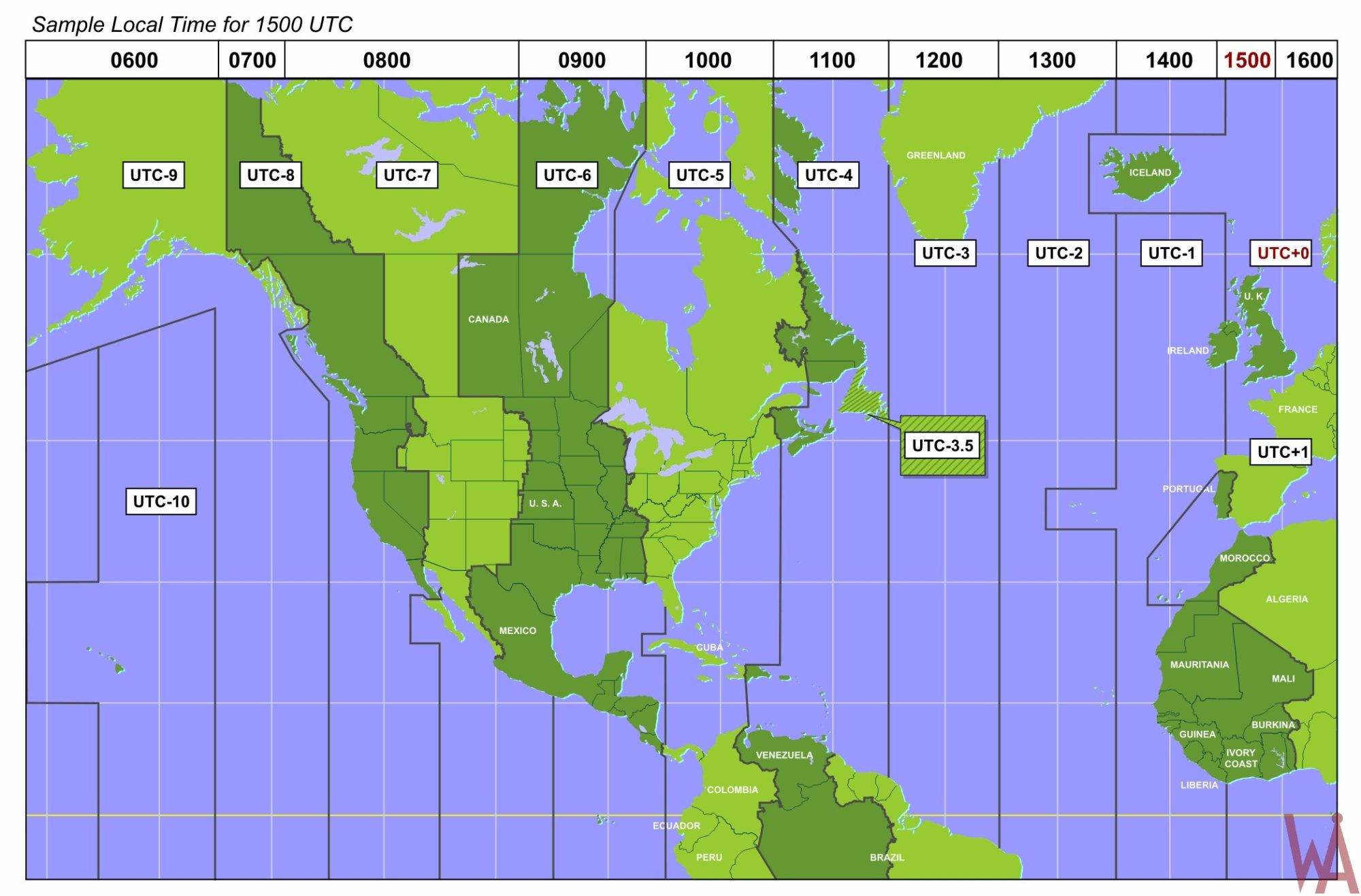 Detail Time Zone Map of North America | WhatsAnswer
