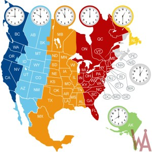 Time Zone Map of North America