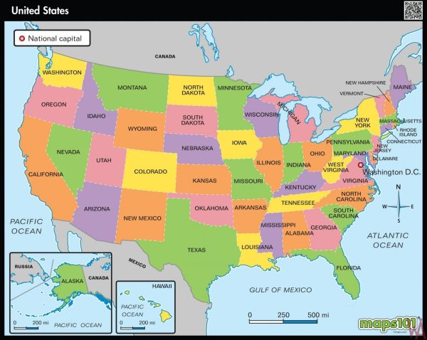 Hd Wallpaper Large State map of the US WhatsAnswer