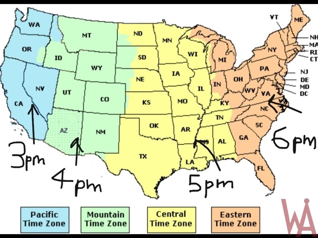 Time Zone Maps Of The Usa