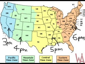 Time Zone Map of the USA | WhatsAnswer
