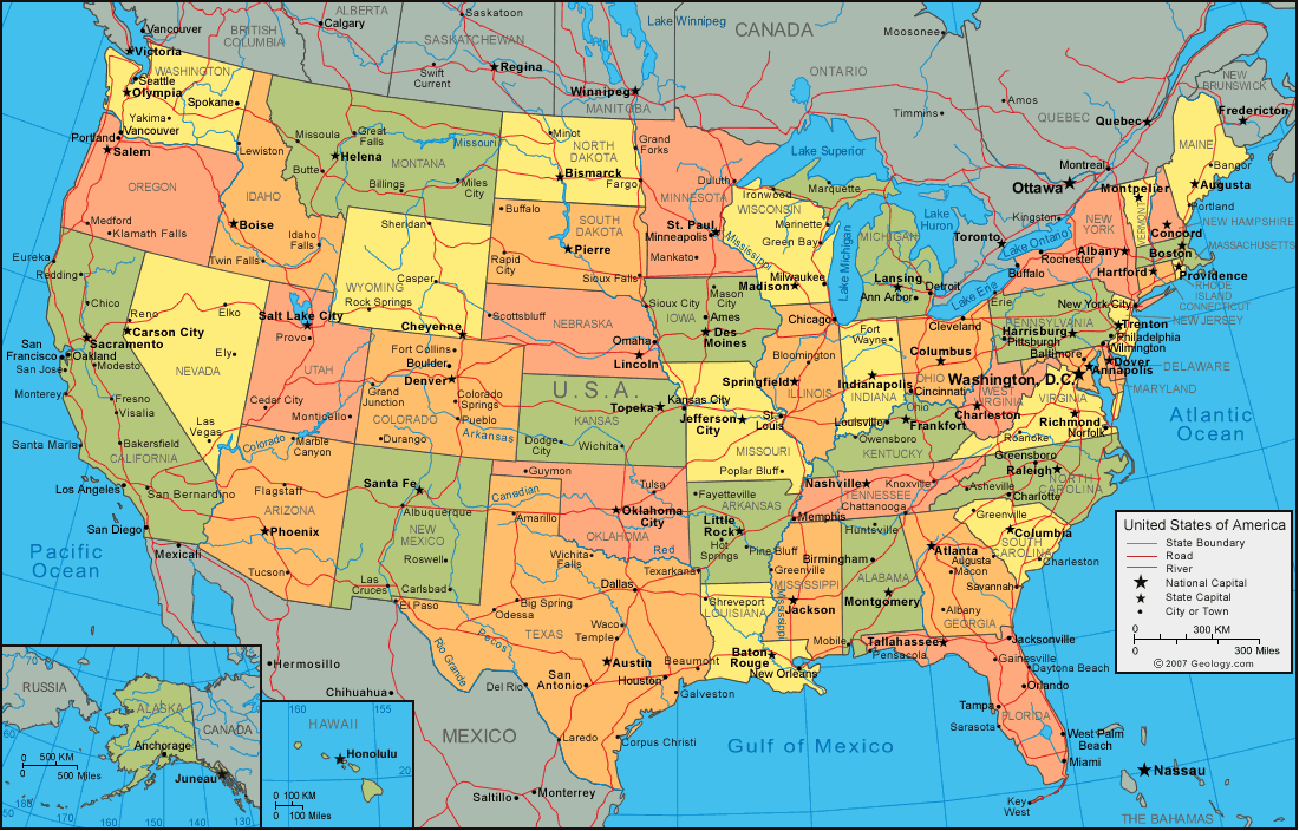 US Administrative Map