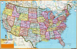 US Large Administrative Divisions Map