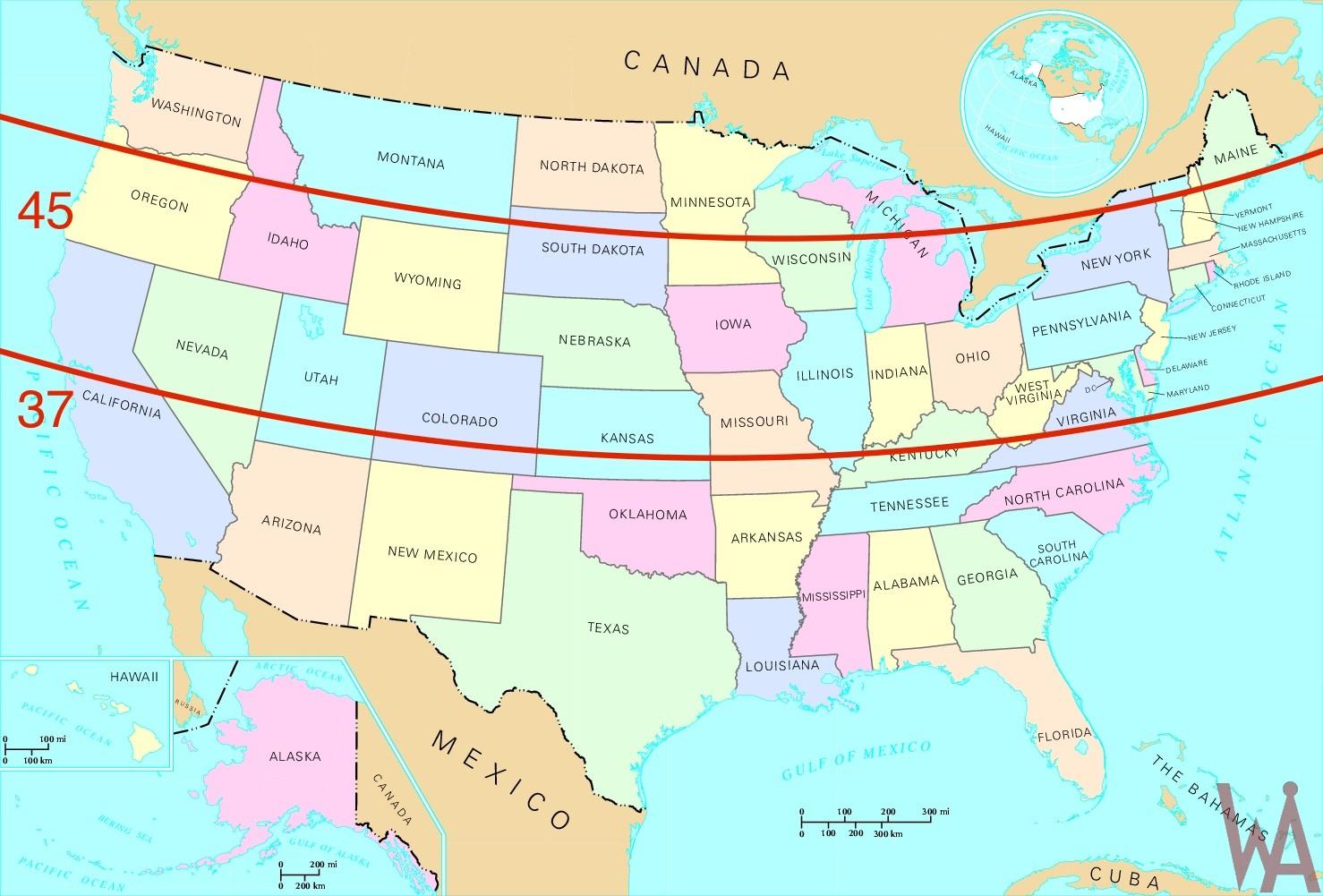 Vitamin D Map United States