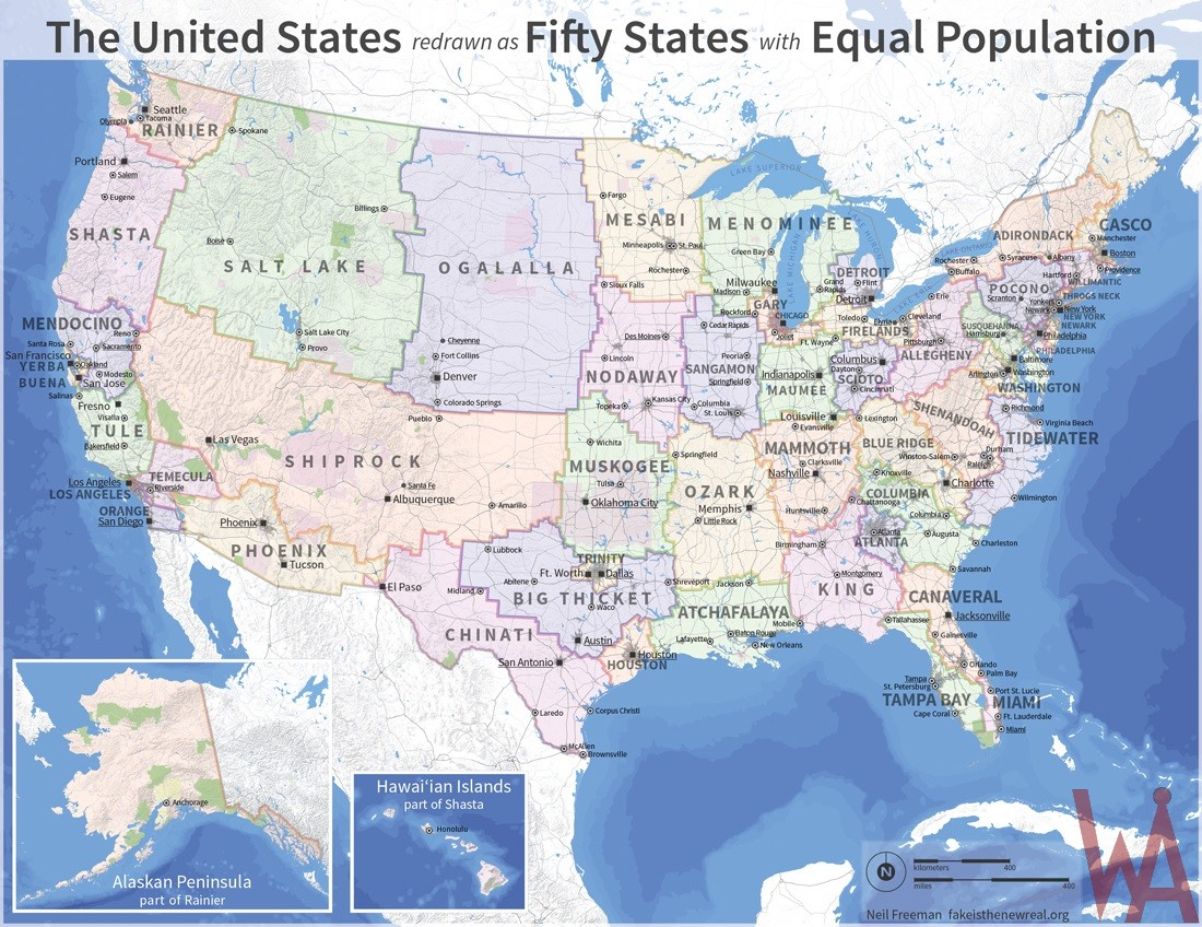 alternate map of usa