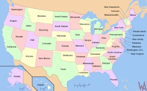 state Map of the USA