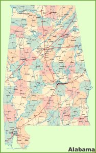 Alabama Large Detailed  Map |  Large  Detailed  Map of Alabama