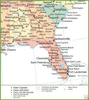 Map Of Jacksonville Georgia.Alabama Political Map Political Map Of Alabama With Georgia