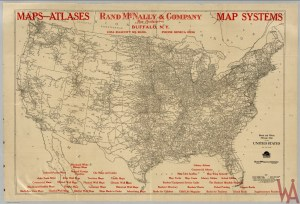 Antique historical Political map of USA