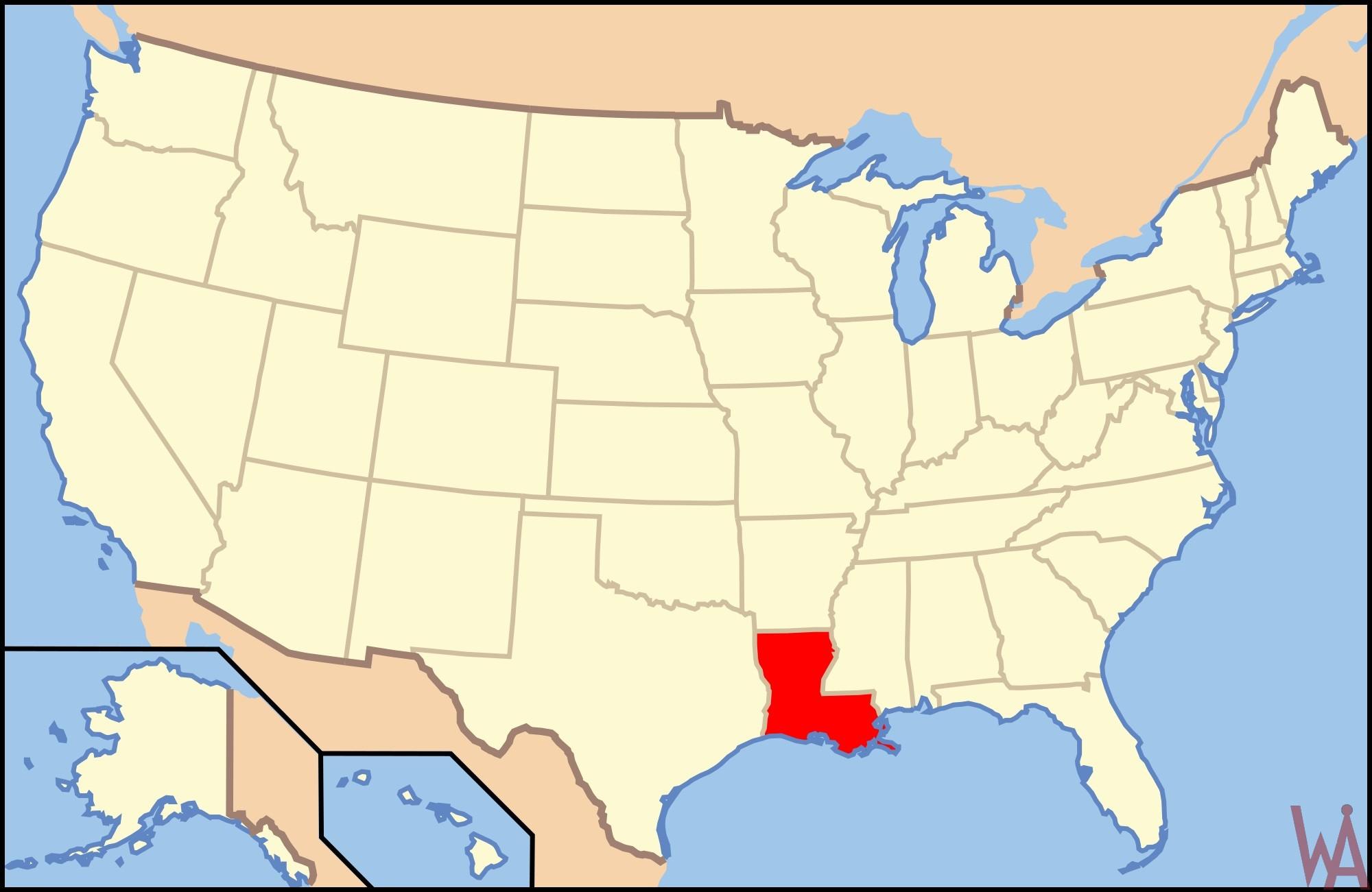 Blank Map USA