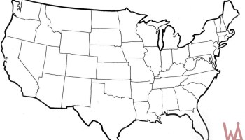 Blank outline map of the United States 9 | WhatsAnswer