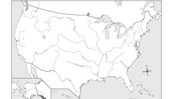 Blank Outline Map 6 of the USA | WhatsAnswer