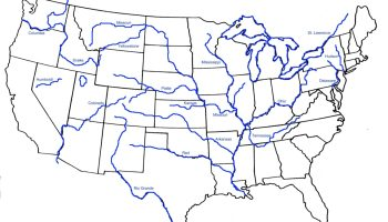 Blank outline map of the United States 5 | WhatsAnswer