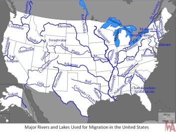Blank outline map of the USA with major 34 rivers | WhatsAnswer