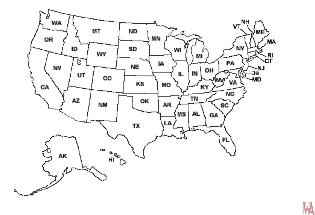 Blank outline map of the United States 20 | WhatsAnswer