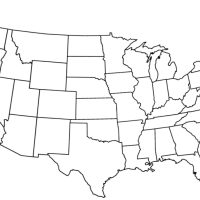 Blank outline map of the United States 21