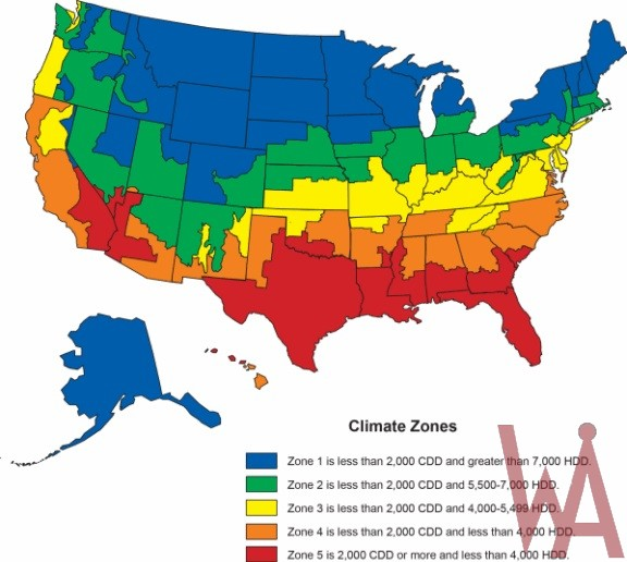 Climate Map Of Usa Climate zone map of the USA | WhatsAnswer